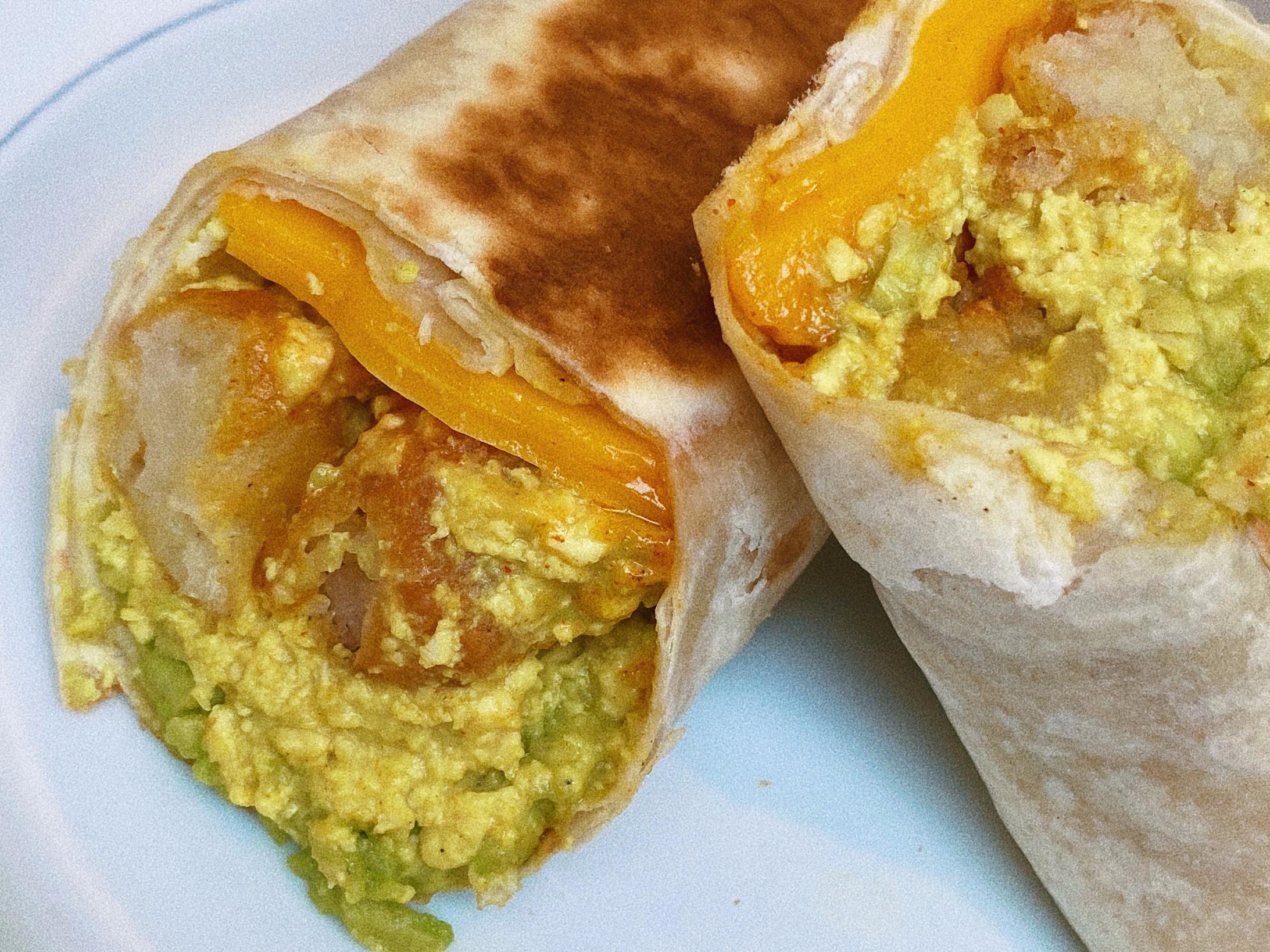 vegan breakfast burrito featured