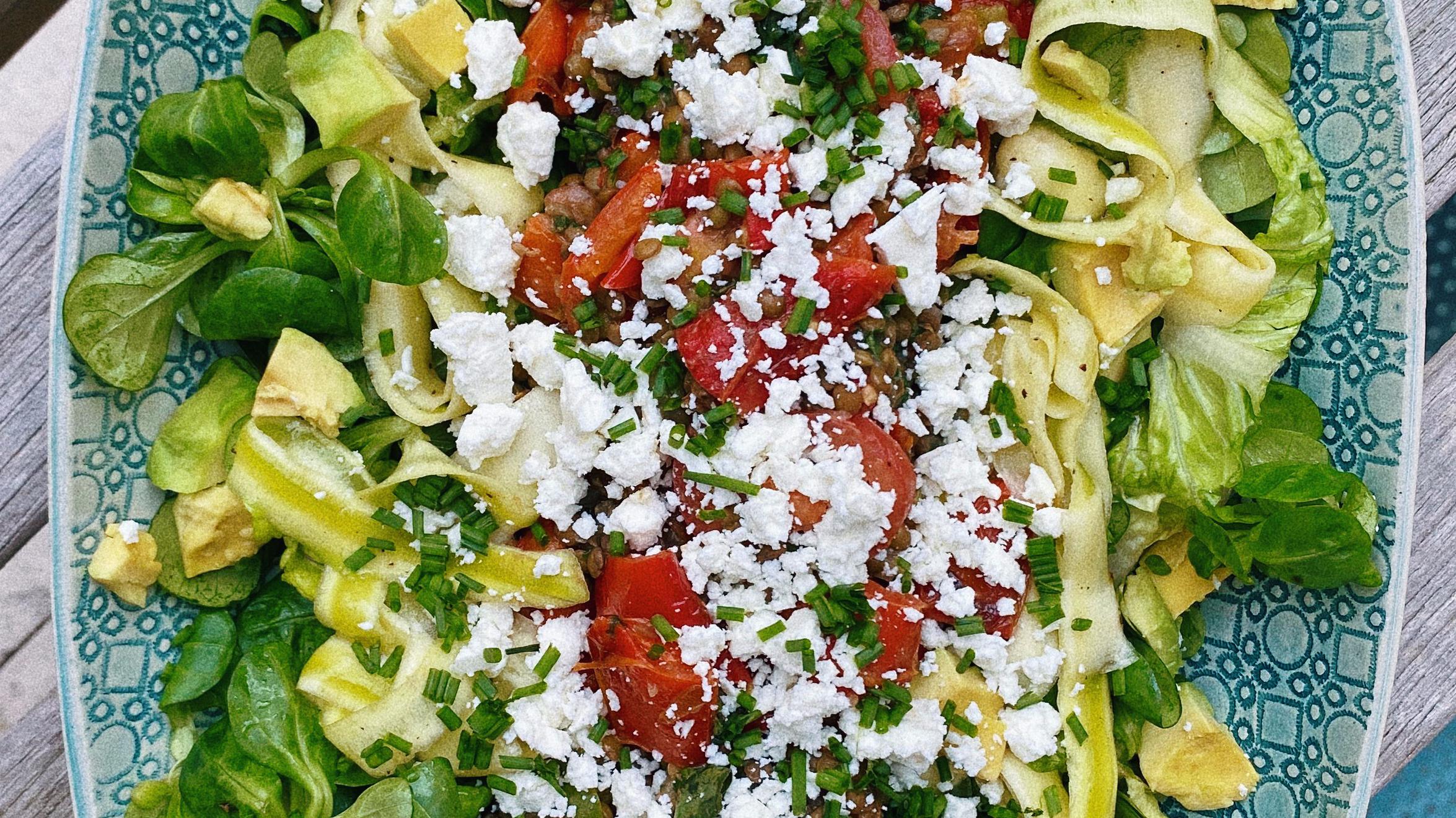 spring lentil salad featured